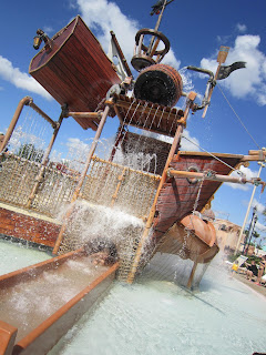 Caribbean Beach Resort pirate ship splash pad, Walt Disney World