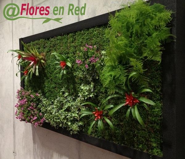 Flores en red decoraci n jardines verticales for Plantas usadas para jardines verticales