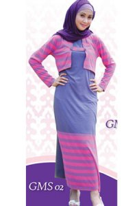 Idmonia Gamis 04 - Abu Violet Salem (Toko Jilbab dan Busana Muslimah Terbaru)
