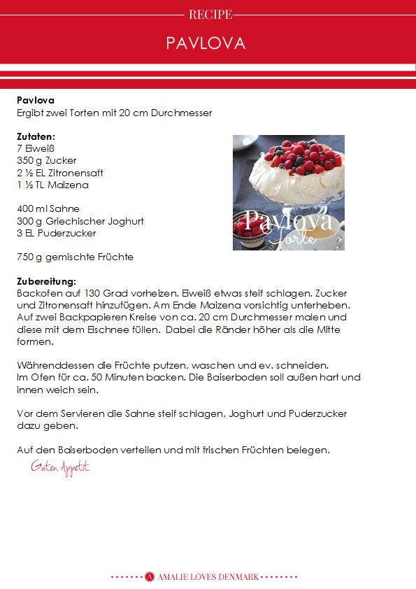 Amalie loves Denmark Pavlova Rezept