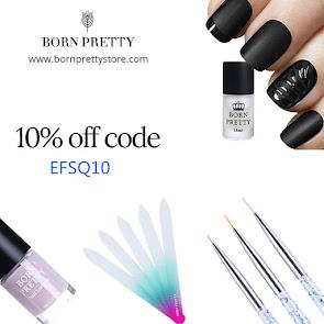 Воспользуйтесь кодом EFSQ10, чтобы получить скидку 10% в магазине Born Pretty
