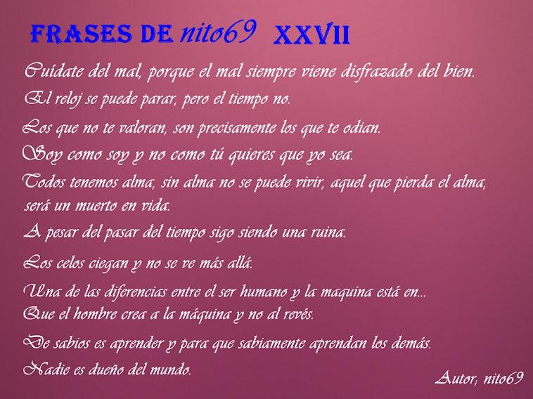FRASES DE nito69 XXVII