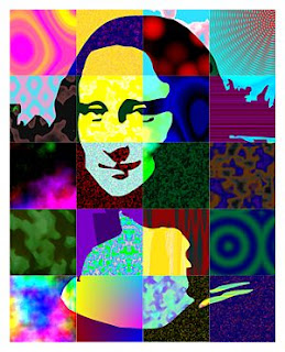 colorful picture of Mona Lisa