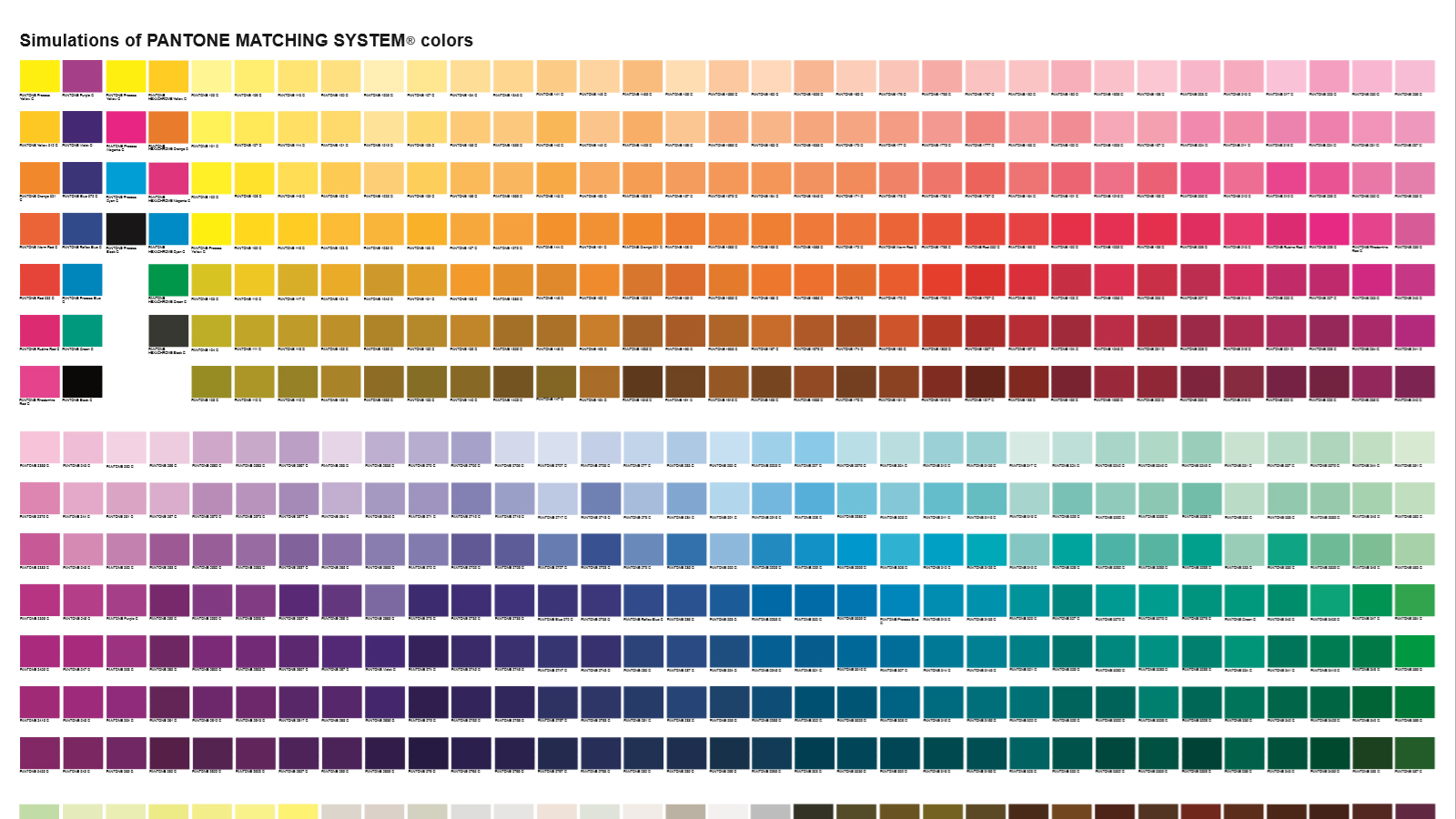 Pantone for Paleta de colores pintura