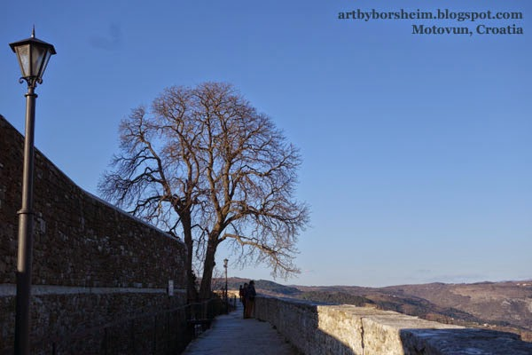 Motovun Truffle Capitol Croatia - Nice View from town wall Istria