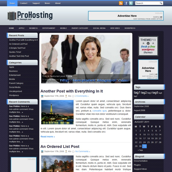 ProHosting WordPress Theme