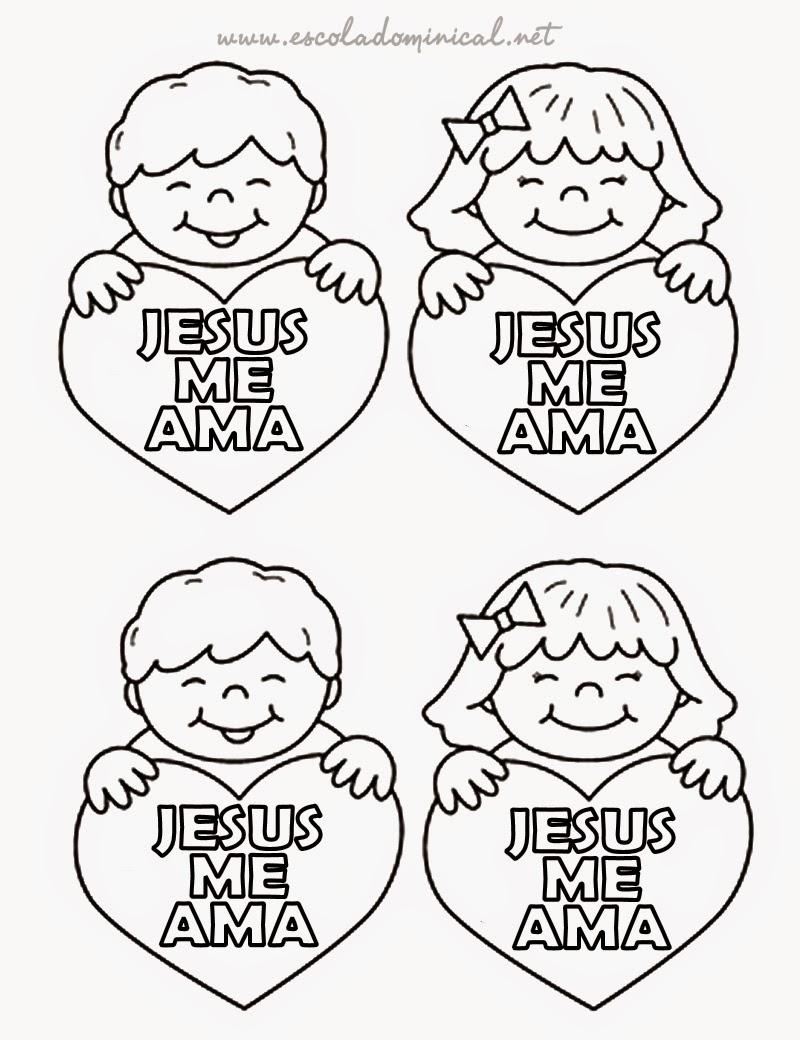 Asombroso Jesús Me Ama Para Colorear La Página Lds Cresta - Dibujos ...