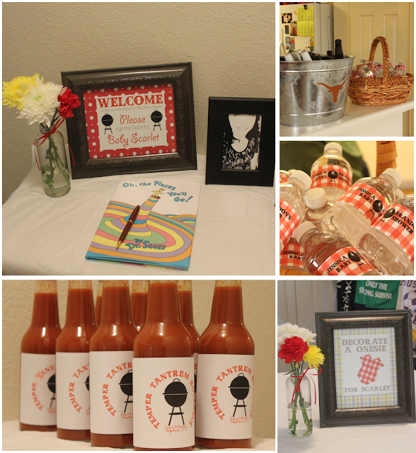 Create cook survive law school plan something bbq for Baby shower bbq decoration ideas