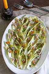 Endive Salad w/ Salmon Caviar and Cashew Creme Fraiche