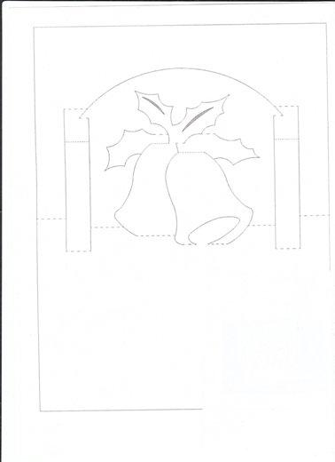 схема киригами открытки с колокольчиками