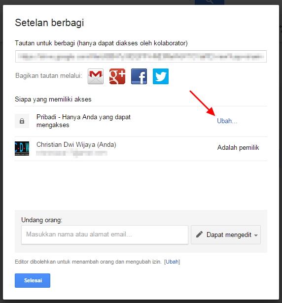 Cara Membagikan File dari Google Drive