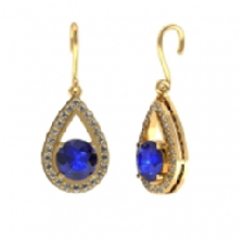 Tanzanite Yellow Gold Earrings