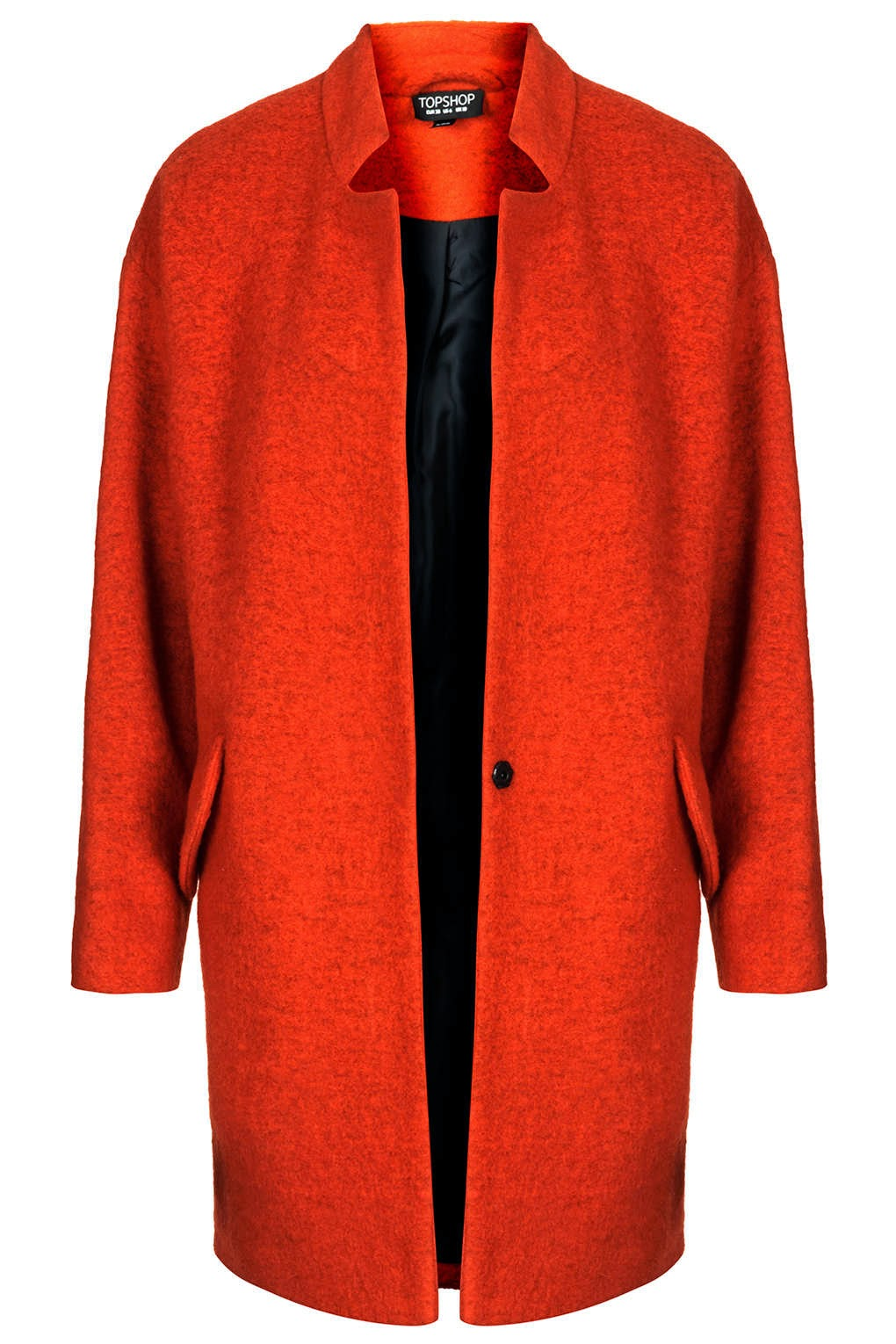 topshop red coat