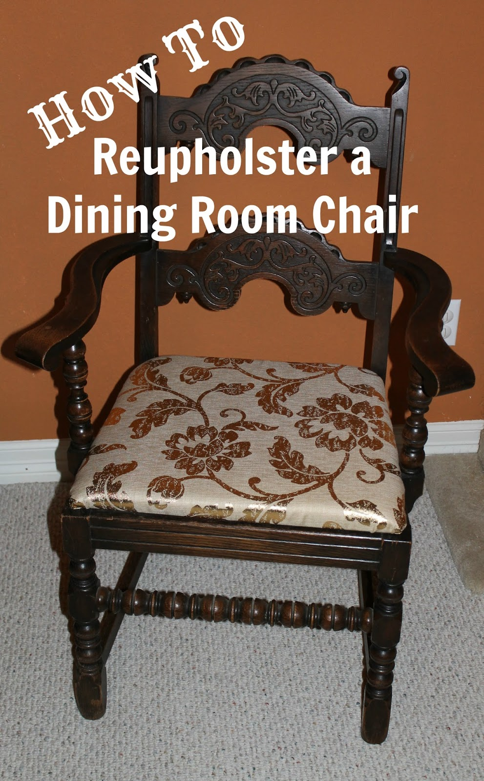 Blonde Undercover Blonde DIY Reupholstered Dining Chairs