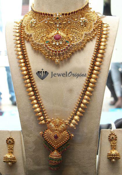 Jhumka earrings with chain