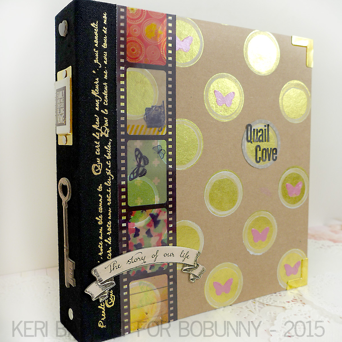 Quail Cove by Keri Babbitt using BoBunny Misc Me Metallic Binders