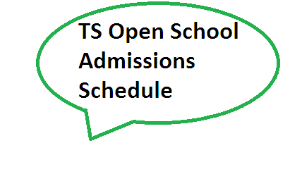 Open School Admissions-2015-16 Schedule Telangana State TS Open School TOSS