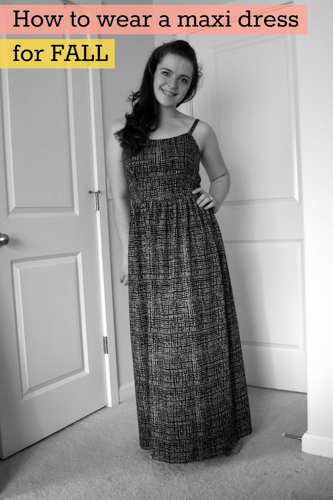 Just made a black maxi dress--can it work for fall ...