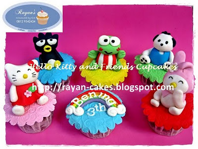 Rayan Cakes: Hello Kitty and Friends Cupcakes