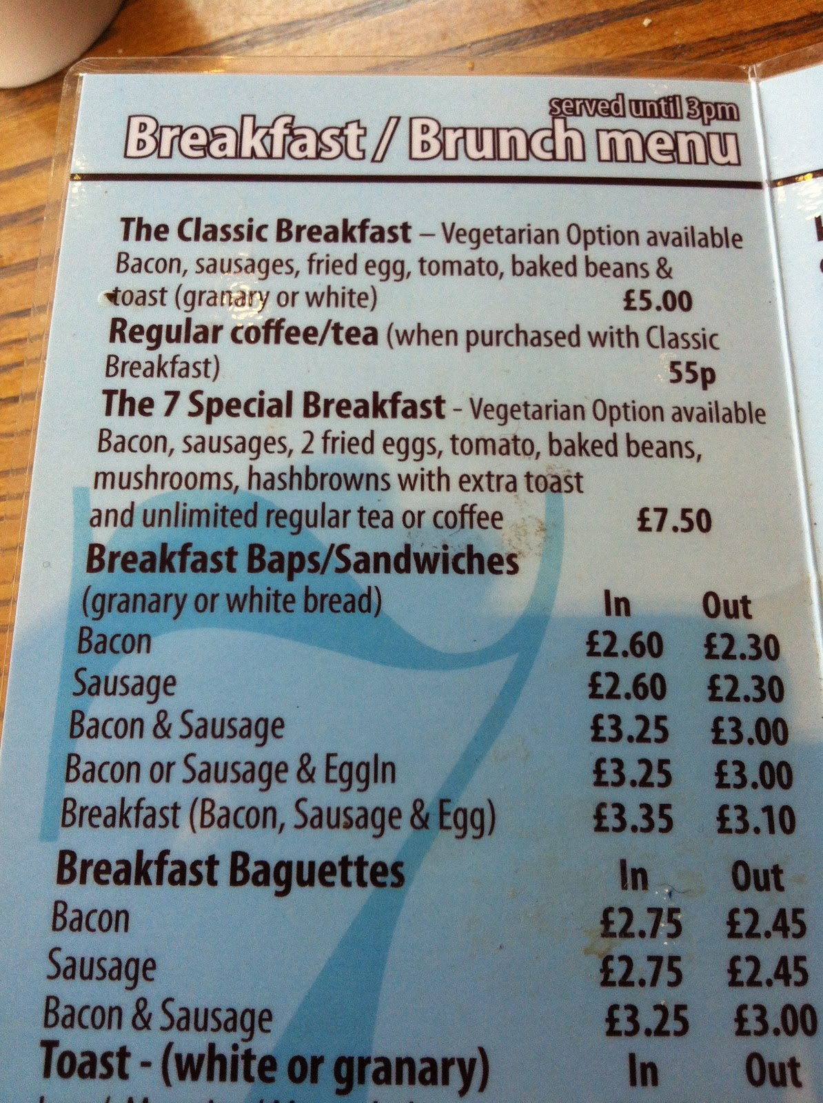The Fry up Inspector: 7 Surrey Street - Norwich