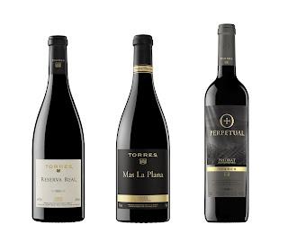 Botellas de vino Torres