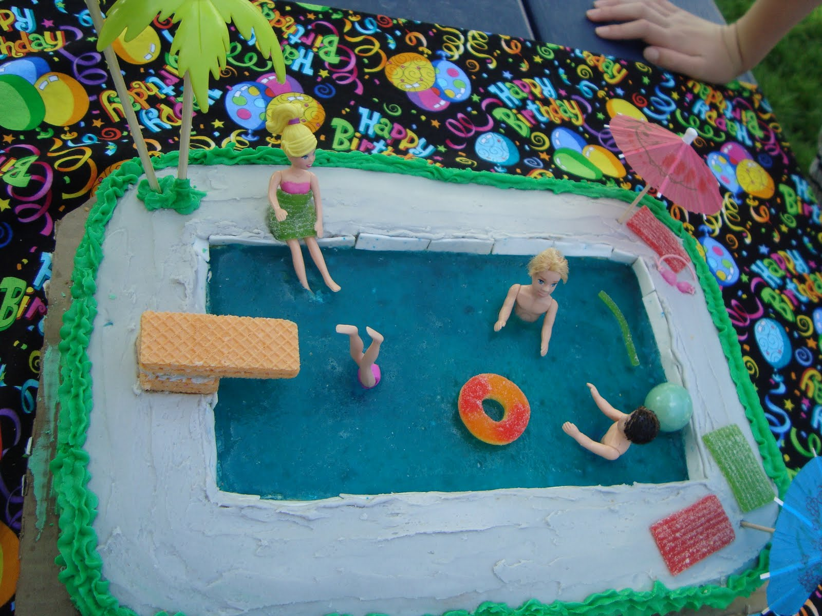 The Creative Homemaker Swimming Pool Birthday Cake