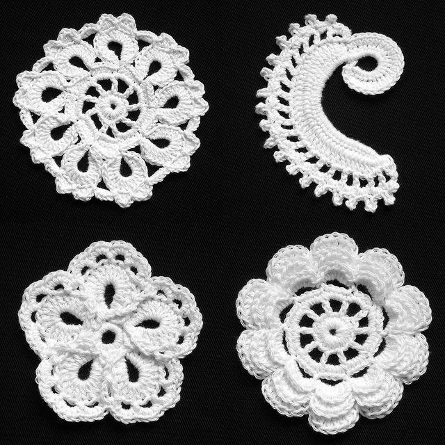 Letras e Artes da Lala: Saias de croch?: croch? irland?s ...