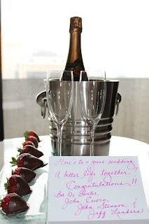 Honeymoon Champagne chocolate covered strawberries Boston