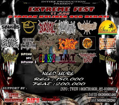 Intiez Production Presents - Extreme Fest (Need More Band 11 Juny 2011 Bekasi)