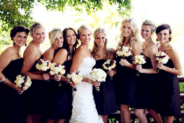 same black wear again bridesmaid dresses
