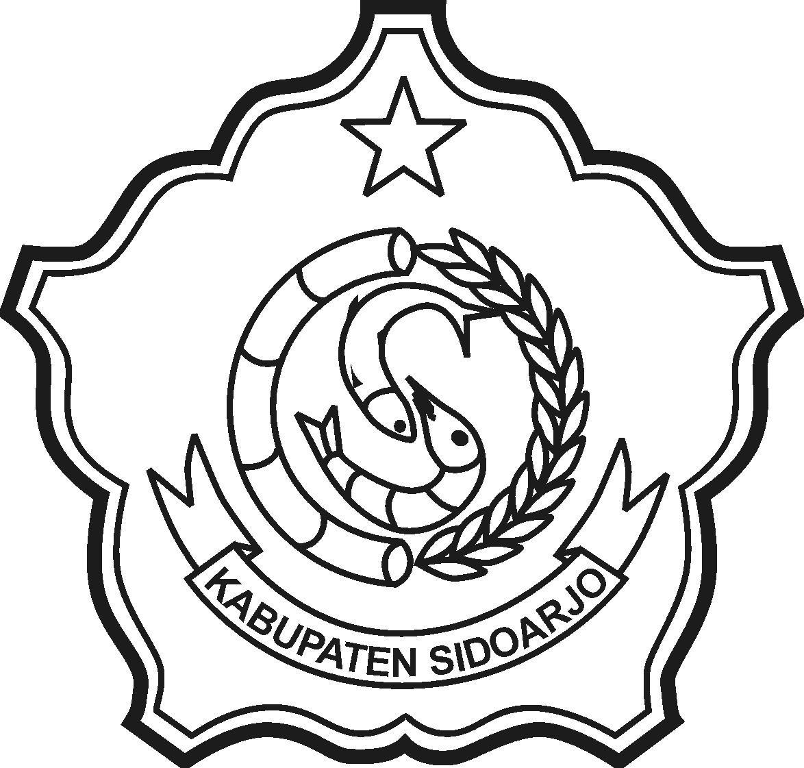 logo sidoarjo hitam putih