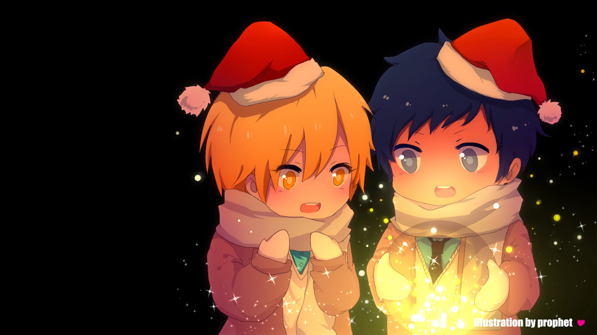 Christmas Chibi Kise Ryouta Aomine Daiki 2u Wallpaper HD