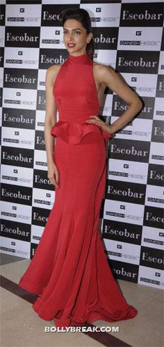 Deepika is a lady in red - (3) -  Cocktail girl Deepika Padukone Dresses