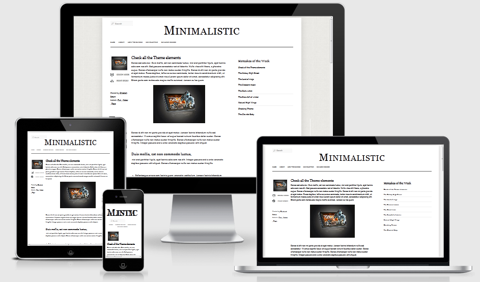 Minimalistic-A Responsive Blogger Template