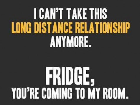 Funny Dieting Quotes: I have a love hate relatinship with my fridge