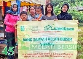 Bank Sampah Melati Bersih Vipamas Bambu Apus Pamulang Tangerang Selatan