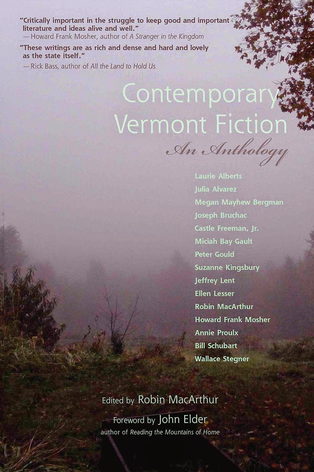 Contemporary Vermont Fiction