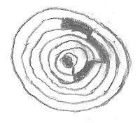 Tekening trapvormige ringscheur