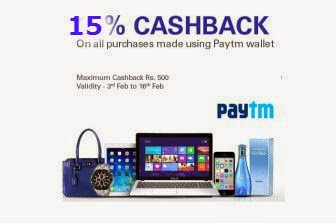 eBay  : Get 15% CASHBACK On All Purchases Payment Made Using Paytm wallet