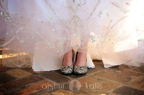 printed wedding shoes