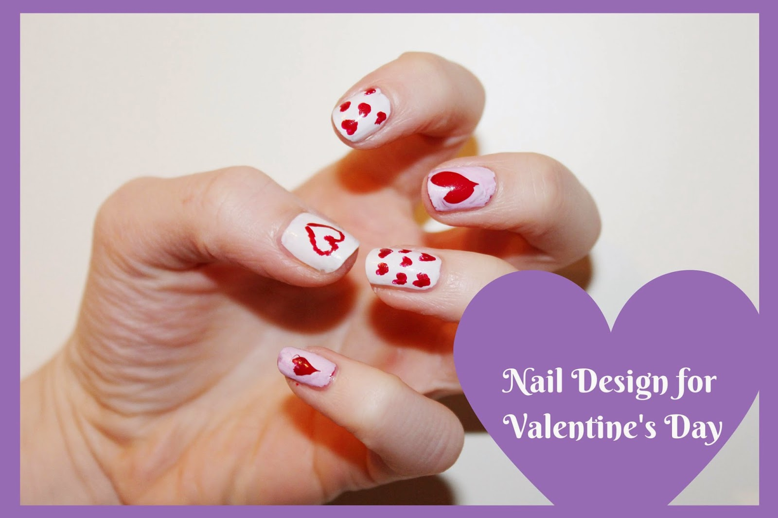 Nageldesign für Valentinstag