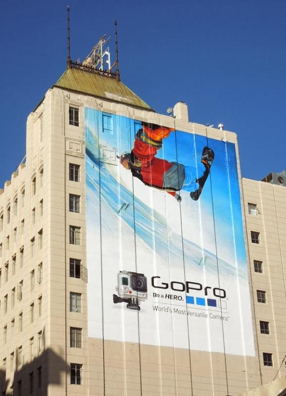 GoPro snowboarder billboard