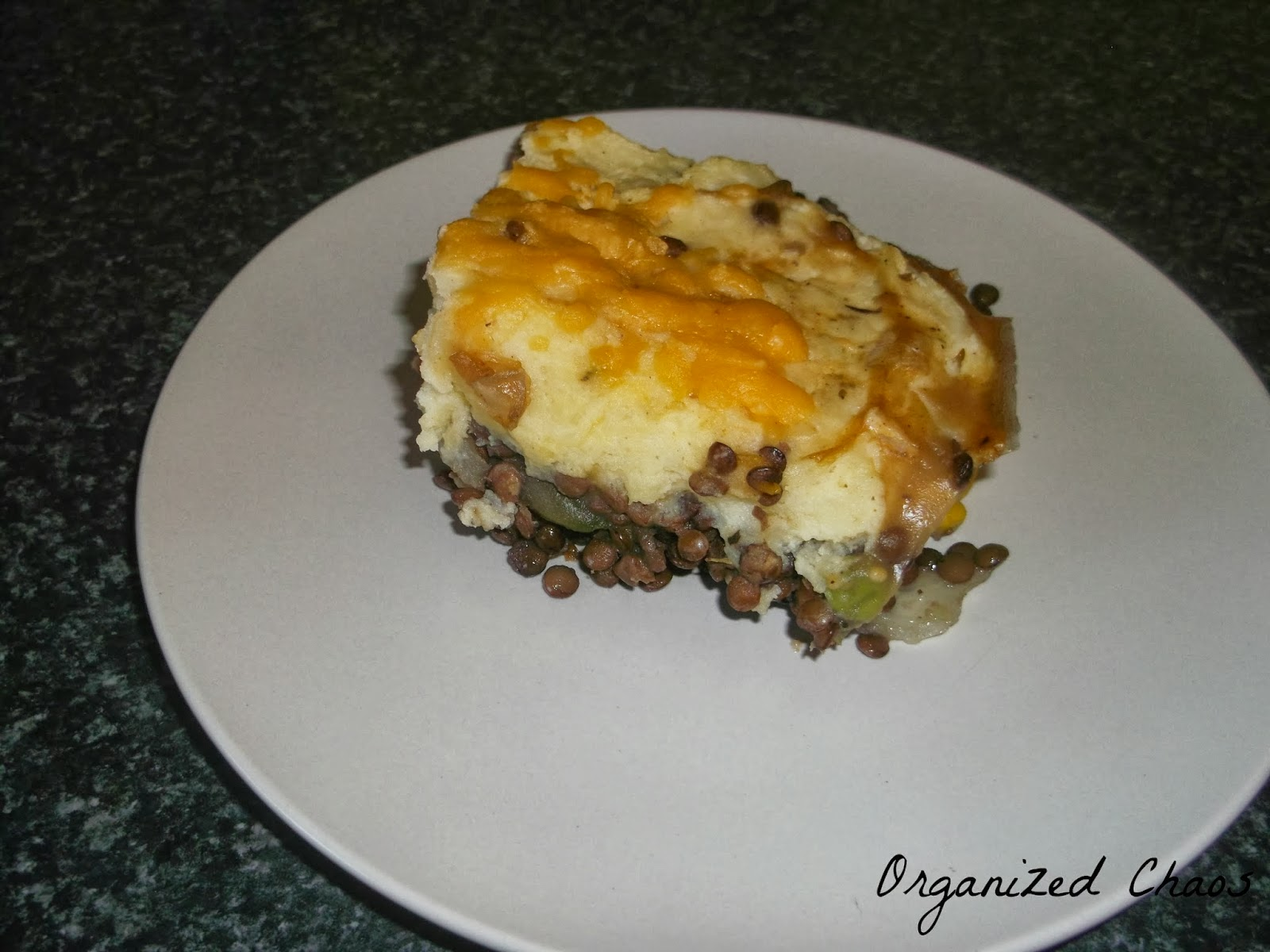 shepherds pie, recipe, vegetarian, lentils, yummy, quick and easy recipe, simple recipe, vegetarian dinner