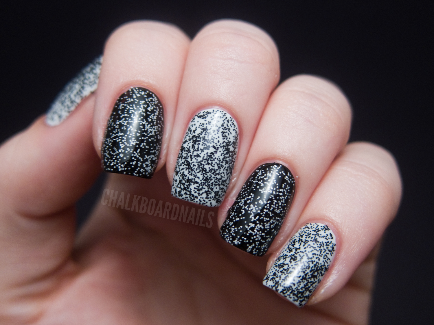 The Tiny Microglitter In Windestine Polishes Makes My Nails Look Like Tv Static