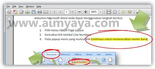 Gambar: Contoh teks pada file PDF yang telah ditandai menggunakan Adobe Reader XI