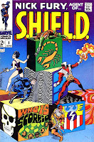 Nick Fury Agent of Shield v1 #1 marvel comic book cover art by Jim Steranko