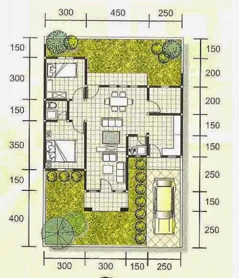 denah dan model rumah minimalis type 70 terbaru 2015