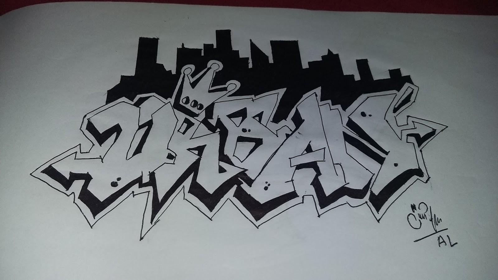 Gambar Graffiti Bagi Pemula