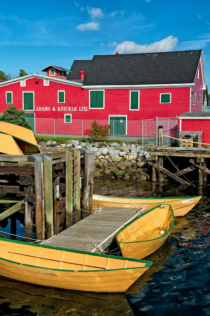 Nova Scotia; Lunenberg; Dory; Dock; Boat; Adams & Knickle Ltd.; Wharf