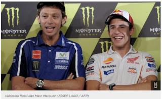 Keakraban Pertemanan Rossi dan Marquez Dikabarkan Berakhir